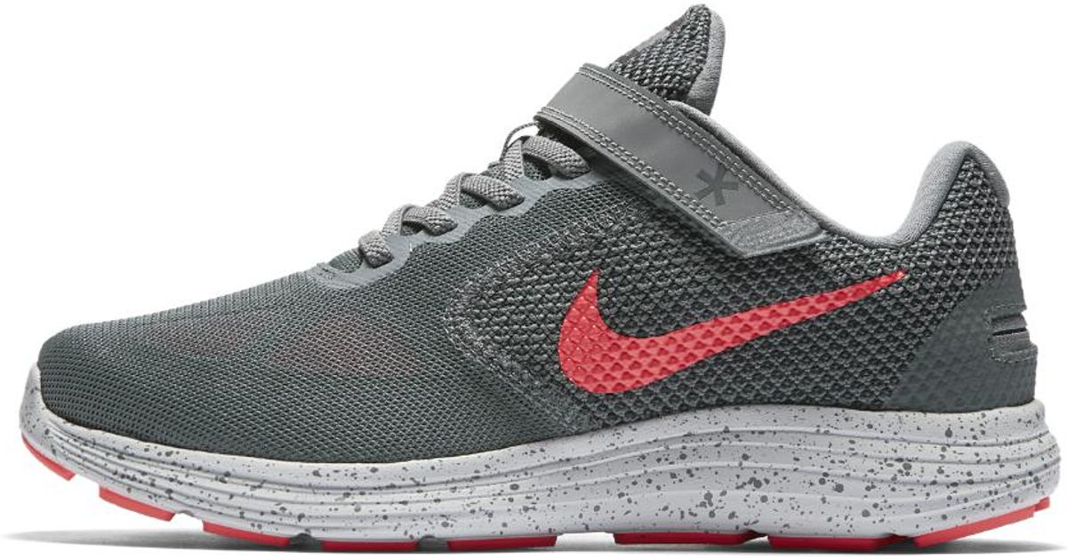 newest 2e48e a9809 Nike Revolution 3 Flyease (wide) Women s Running Shoe in Gray - Lyst