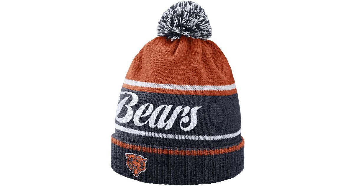 95f4995c5d27d ... ebay lyst nike historic nfl bears knit hat blue in blue for men d5a0a  5fa05