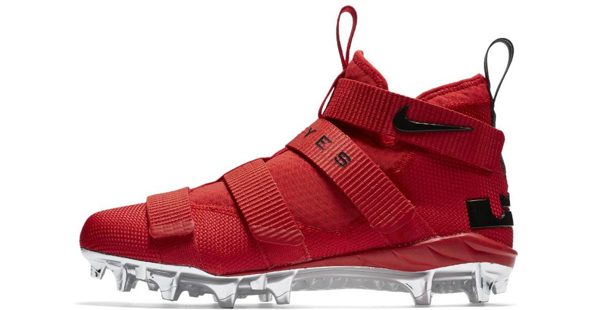 af9903bbbe0 Lyst - Nike Lebron Soldier 11 College (ohio State) Men s Football Cleat in  Red for Men