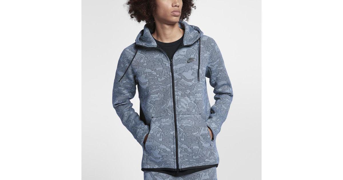 cfaad6edd0cc Lyst - Nike Sportswear Tech Fleece Men s Full-zip Hoodie in Blue for Men