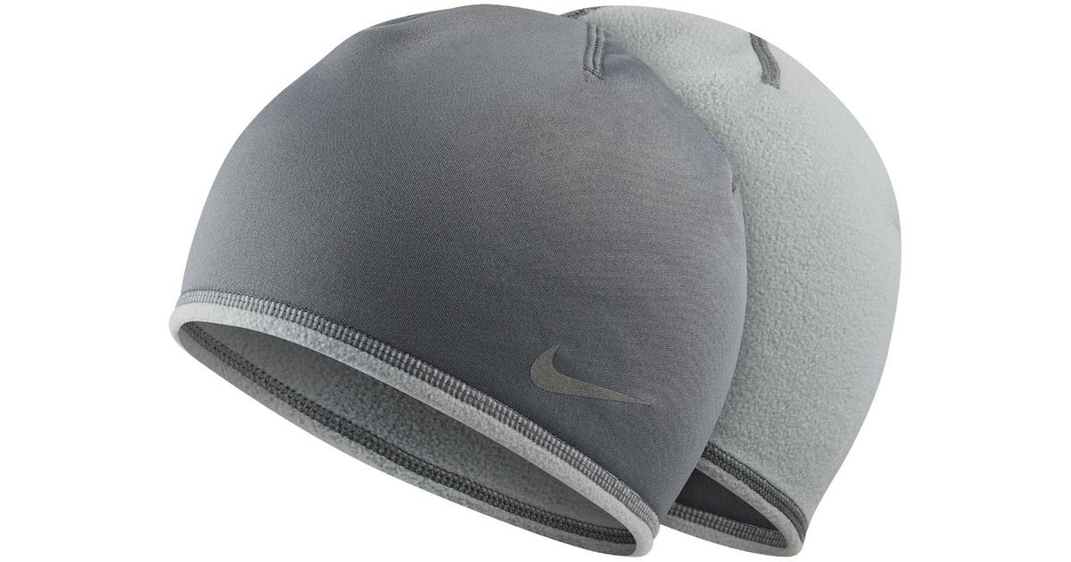 Lyst - Nike Run Thermal Men s Running Glove And Hat Set in Gray for Men d31df0a3343