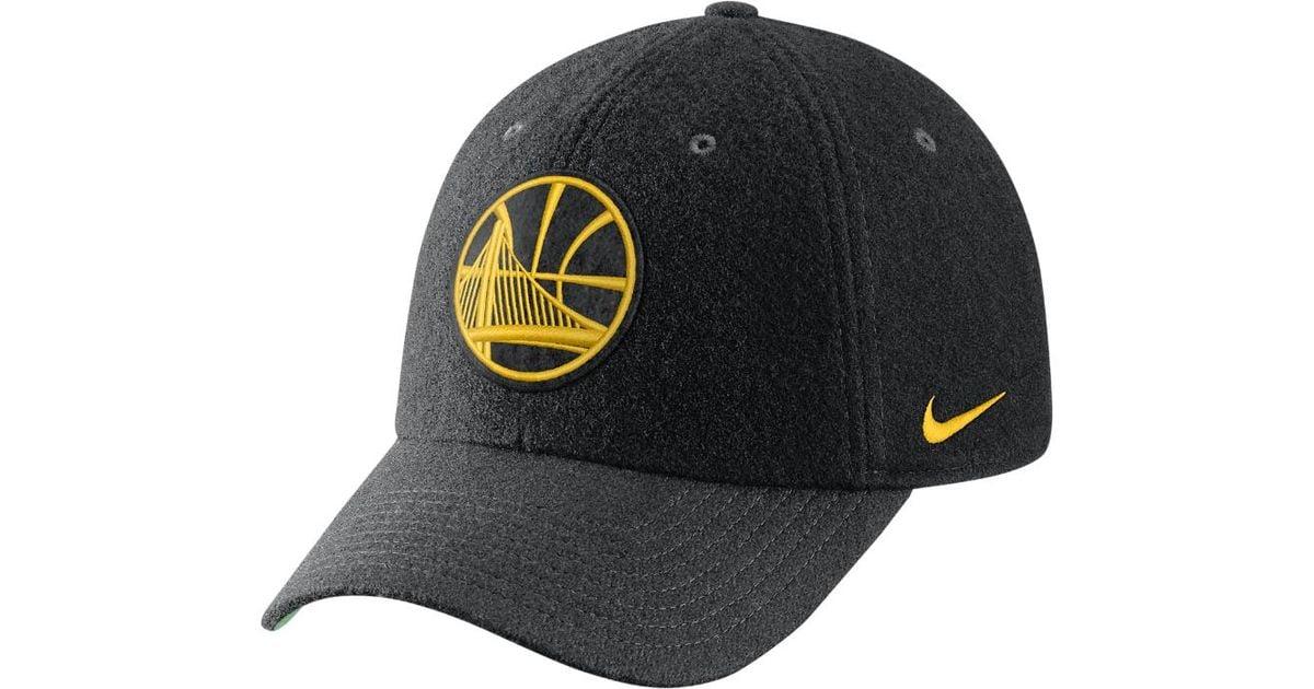 Lyst - Nike Golden State Warriors Heritage86 Nba Hat (black) in Black for  Men 92287fe4fd1