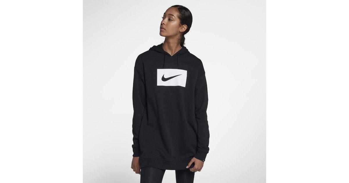 official photos f7b67 13eac Nike Sportswear Swoosh Women s Hoodie in Black - Lyst