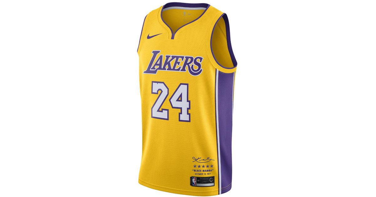 Lyst - Nike Kobe Bryant Icon Edition Swingman Jersey (los Angeles Lakers)  Men s Nba Connected Jersey in Yellow for Men 61bb3660c