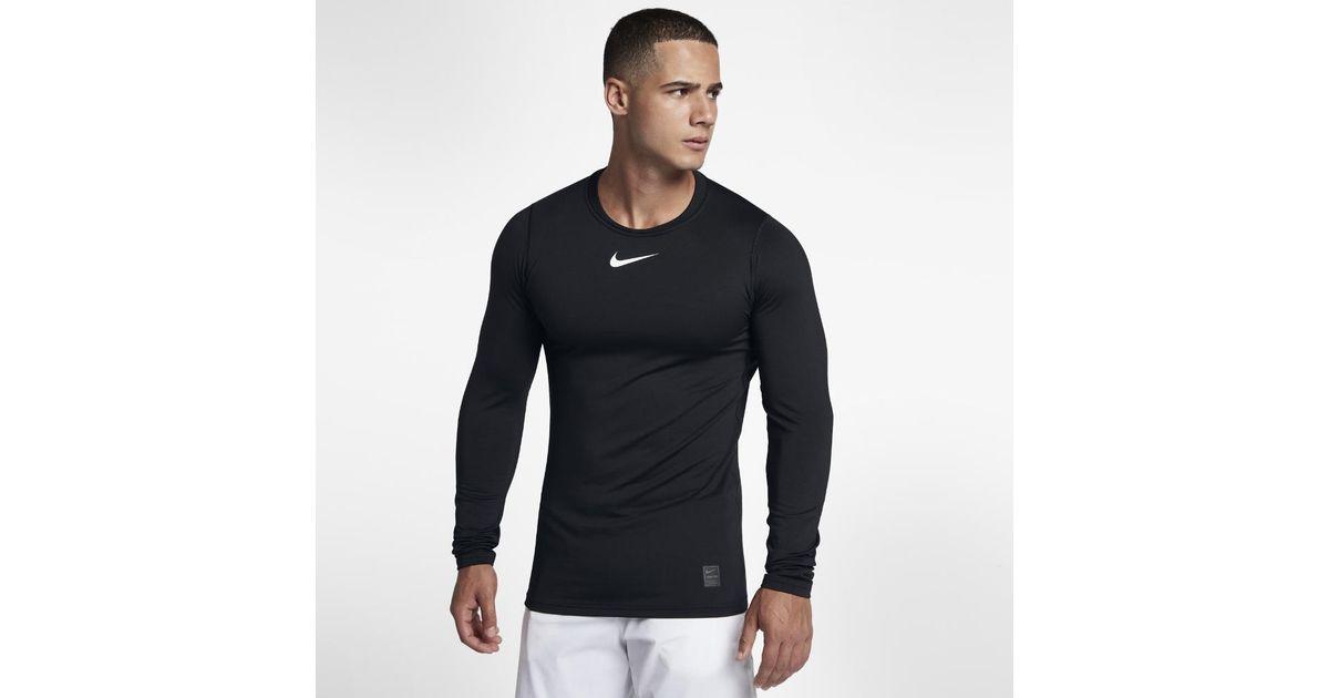 1bbcbfae9d1 Lyst - Nike Pro Warm Men s Long Sleeve Training Top in Black for Men