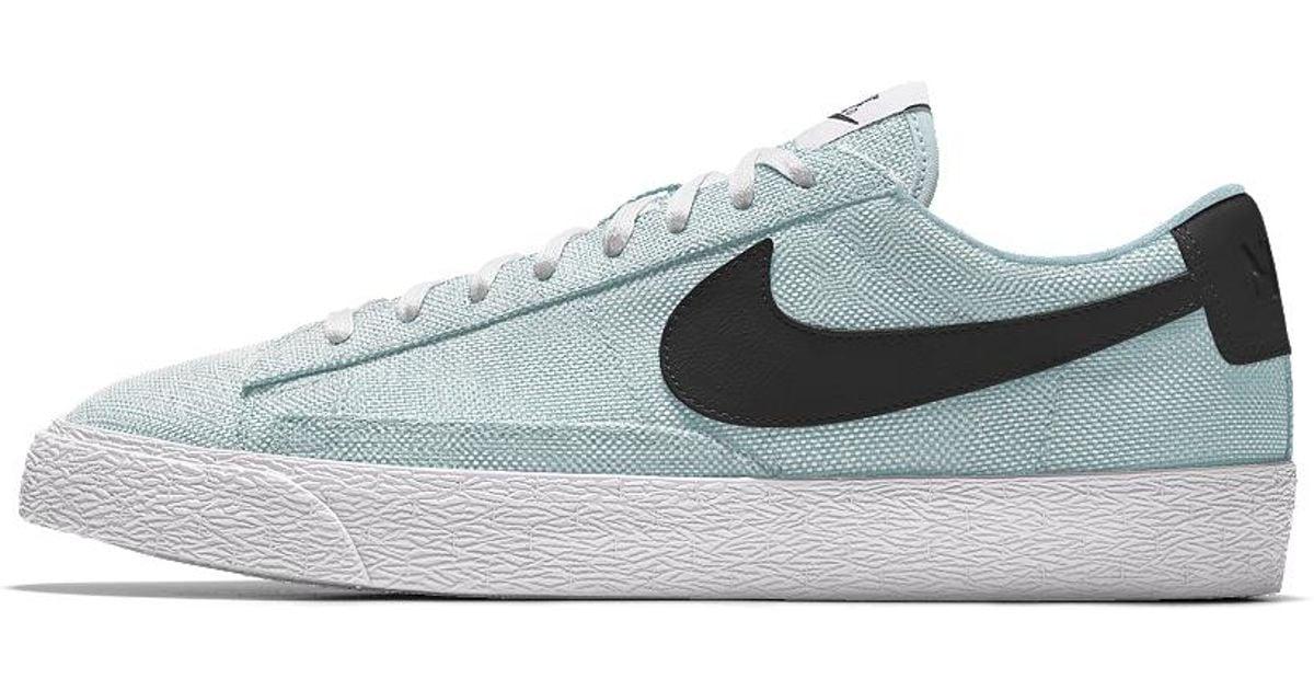 finest selection 9cc51 e7b98 Lyst - Nike Blazer Low Premium Id Men s Shoe in Blue for Men
