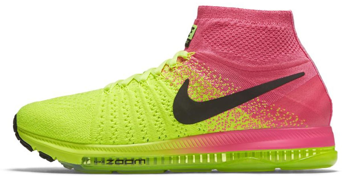 0fa6d45ef5a6 usa lyst nike air zoom all out flyknit ultd womens running shoe in green  1c22c a4663