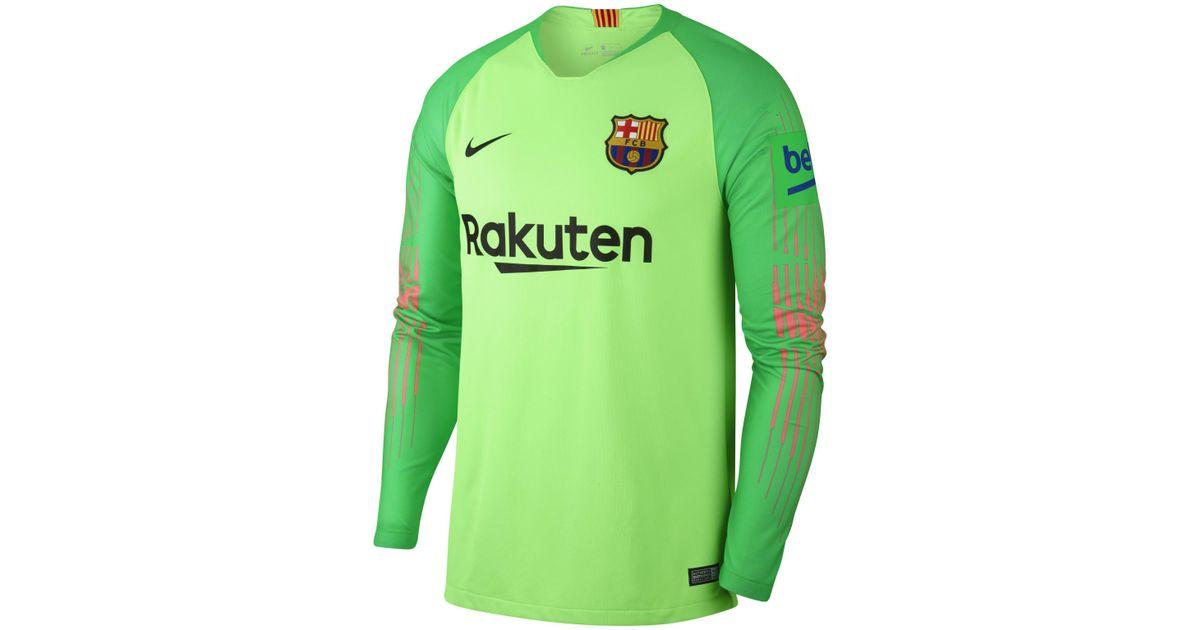 59966aa63 Nike 2018/19 Fc Barcelona Stadium Goalkeeper Football Shirt in Green for  Men - Lyst