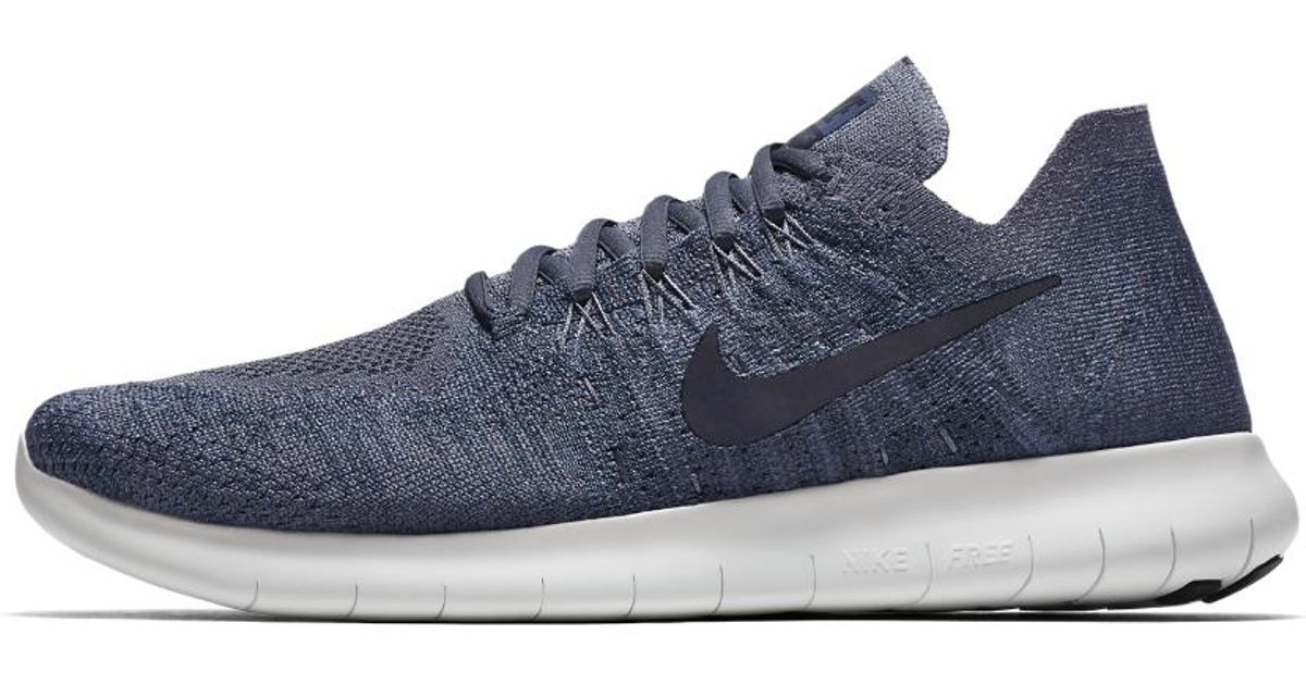 893e7849b9751 Lyst - Nike Free Rn Flyknit 2017 Men s Running Shoe in Blue for Men