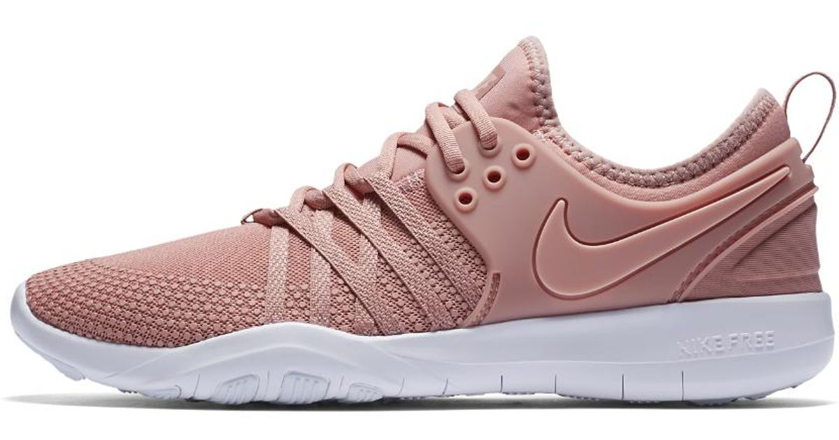 b3e53d8e3d891 ... italy lyst nike free tr7 womens training shoe in pink 7f259 90618