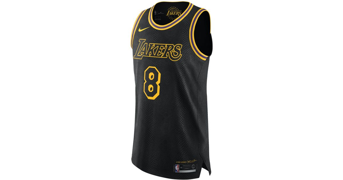 7e881b161 Nike Kobe Bryant City Edition Authentic (los Angeles Lakers) Men s Nba  Connected Jersey in Black for Men - Lyst