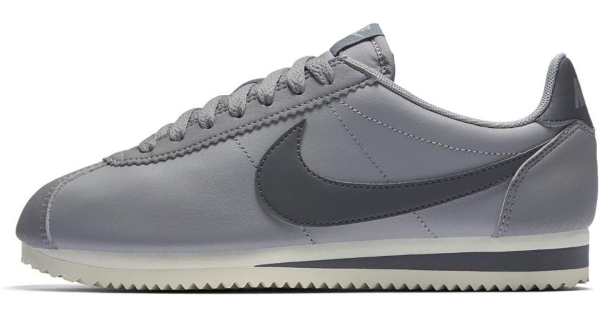buy online 9e48a 7a963 ... get lyst nike classic cortez womens shoe in gray 9b9b9 906ca