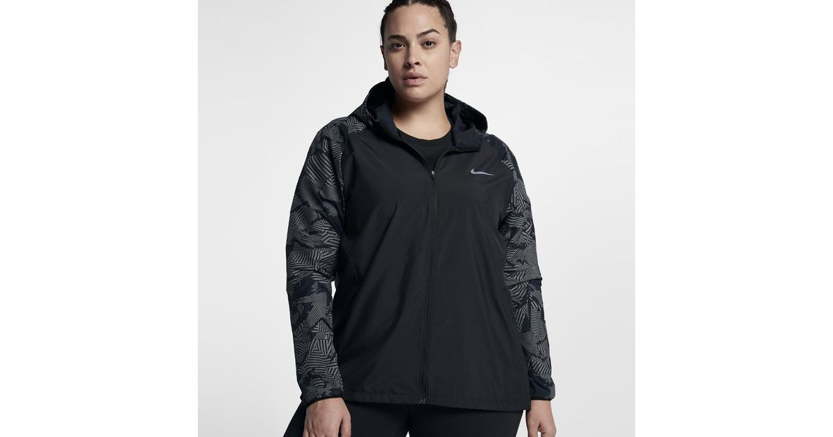 a200eb51a2 Nike Essential Flash Women's Running Jacket (plus in Black - Lyst