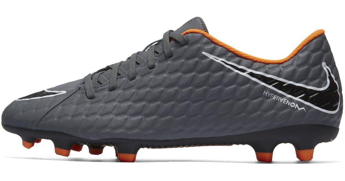 b6354f3572 Nike Hypervenom Phantom Iii Club Fg Firm-ground Football Boot in Gray - Lyst