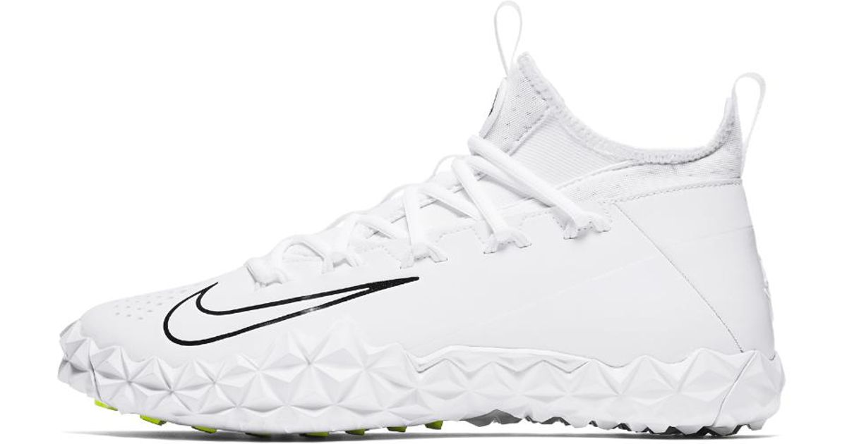 8f0c8b4a8773b Lyst - Nike Alpha Huarache 6 Elite Turf Lax Lacrosse Cleat in White for Men