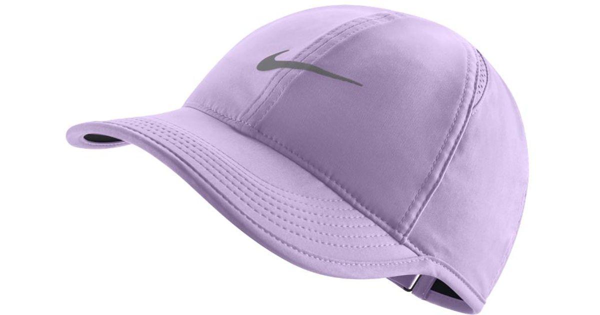 Lyst - Nike Featherlight Adjustable Hat (purple) in Purple da24963b694