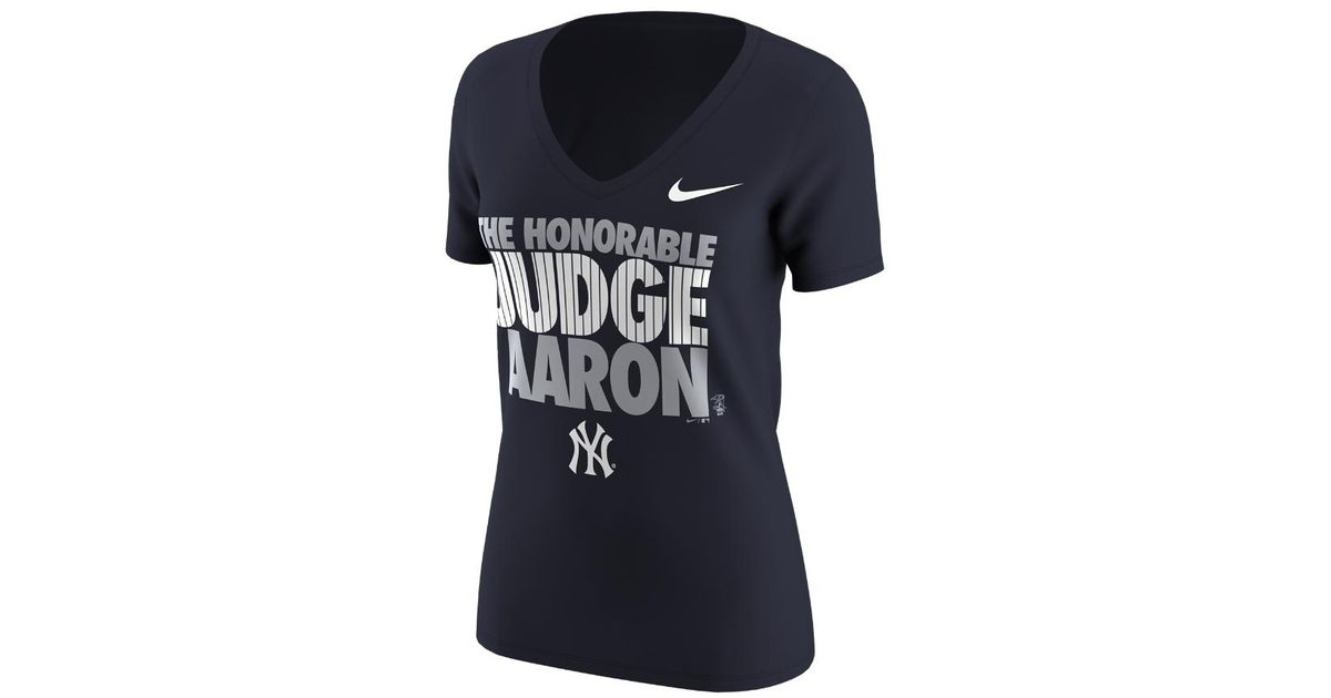 separation shoes 2f5cb 8c020 Nike - Blue 2017 (mlb Yankees / Aaron Judge) Women's T-shirt - Lyst