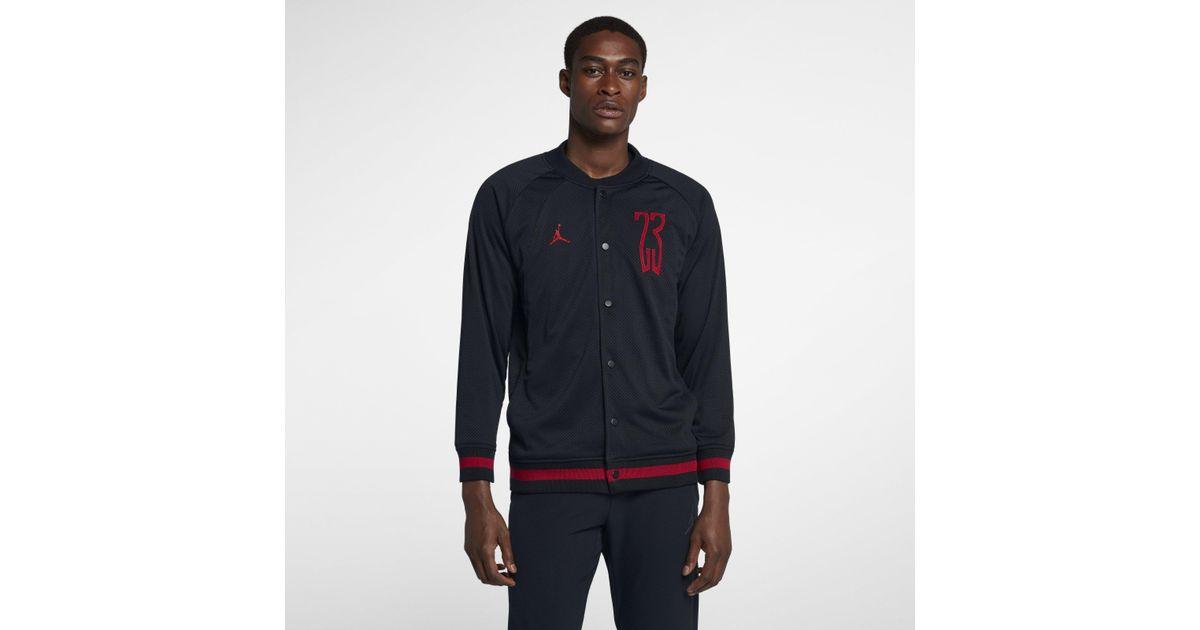 5e2eed3112cb Nike Jordan Lifestyle Last Shot Bomber Jacket in Black for Men - Lyst