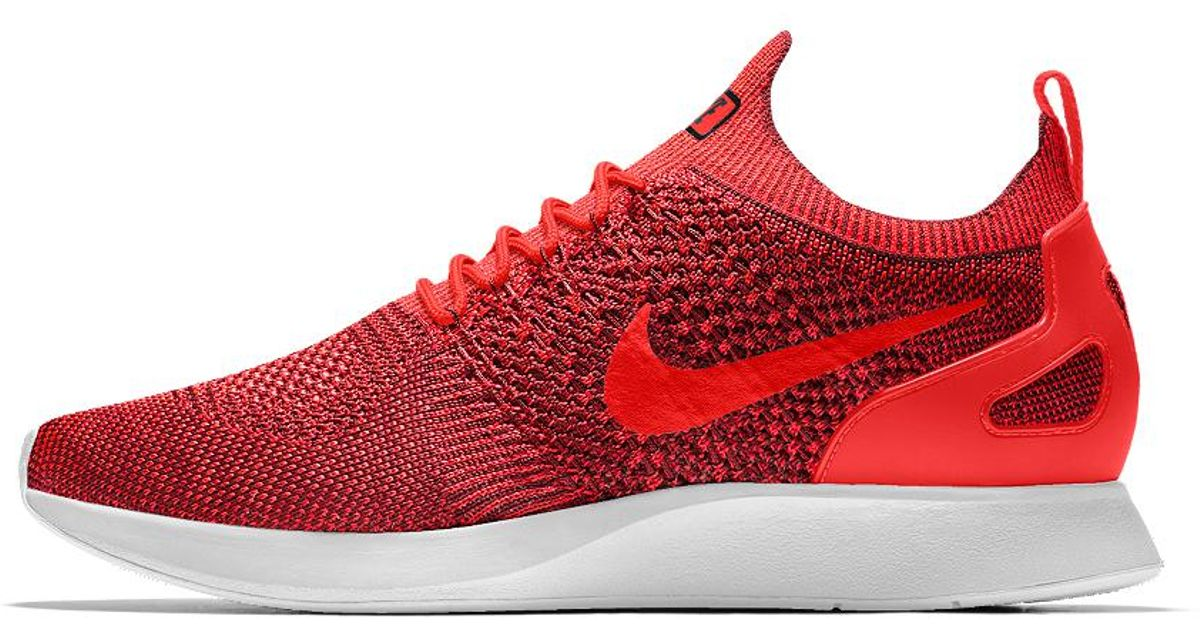 Lyst - Nike Air Zoom Mariah Flyknit Racer Id Women s Shoe in Red 9a41a4f4b