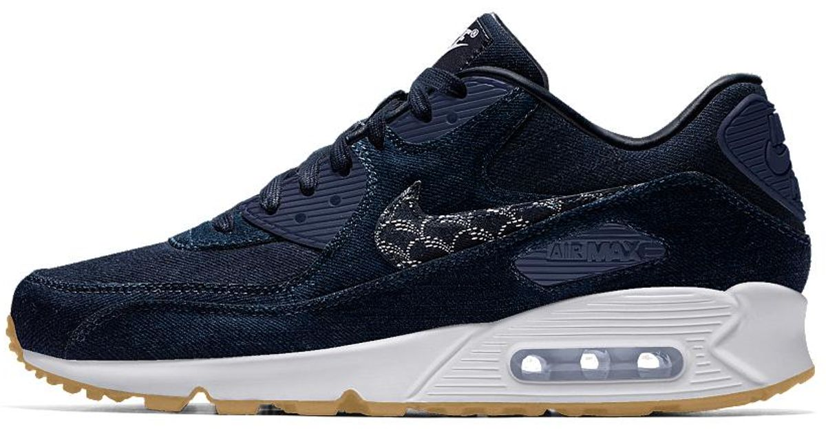 Lyst - Nike Air Max 90 Premium Id Men s Shoe in Blue for Men 6125516c19f7