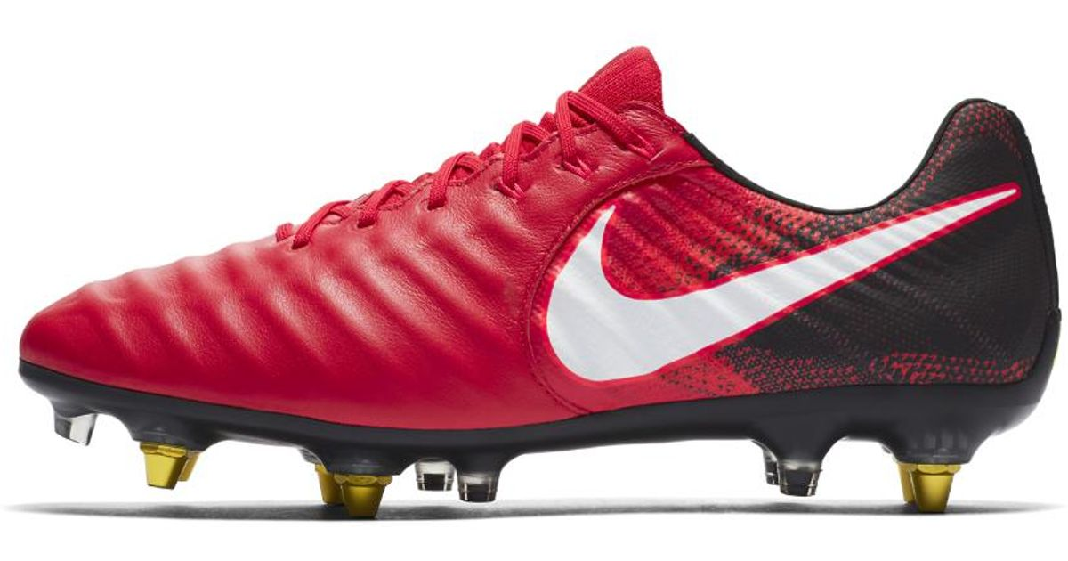 6c33414972a Nike Tiempo Legend Vii Anti-clog Sg-pro Soft-ground Soccer Cleats in Red  for Men - Lyst