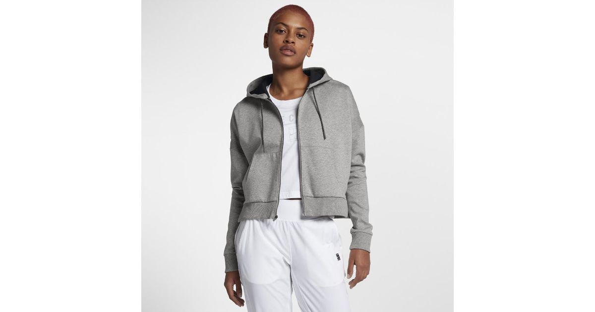 7aa4a08da41c Lyst - Nike Court Women s Tennis Hoodie in Gray