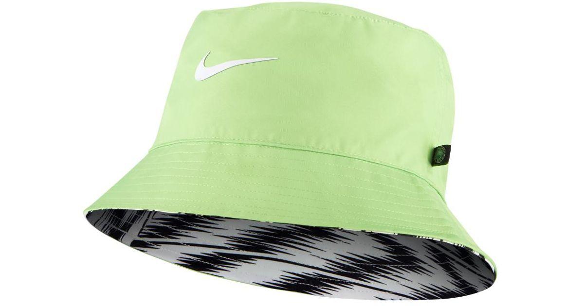 c949349947e18 ... best lyst nike nigeria dri fit bucket hat in green 9838a cd09a