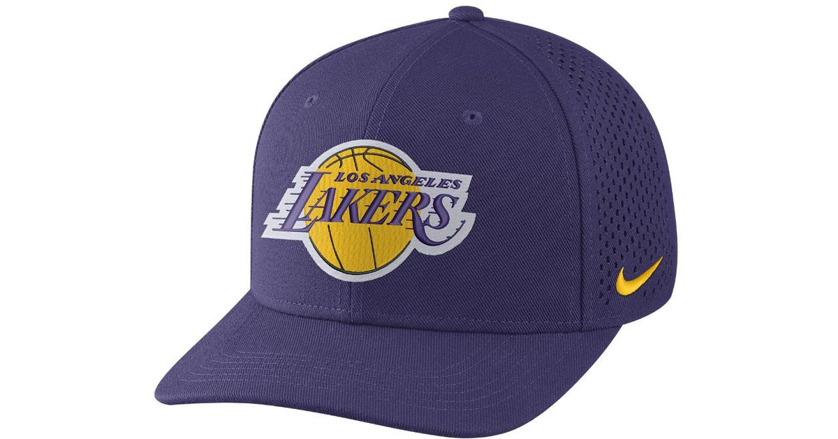 e561cc2551d ... cheap lyst nike los angeles lakers aerobill classic99 adjustable nba hat  purple in purple for men