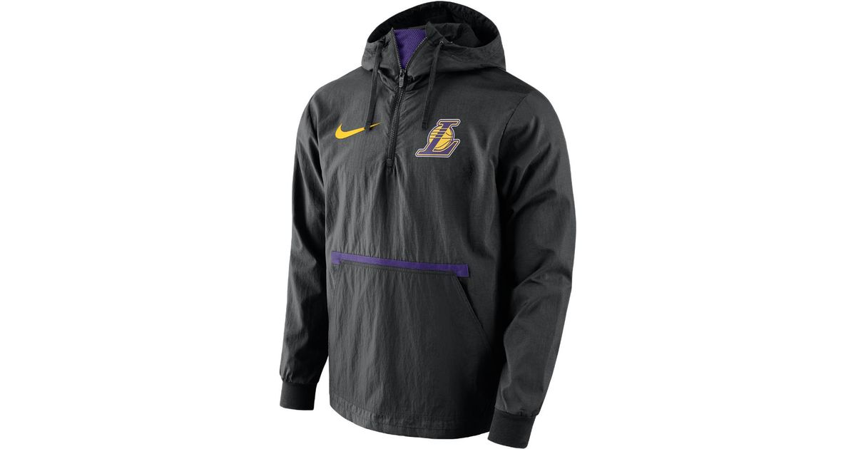 37082e0e7 Lyst - Nike Los Angeles Lakers Men s Nba Jacket in Black for Men