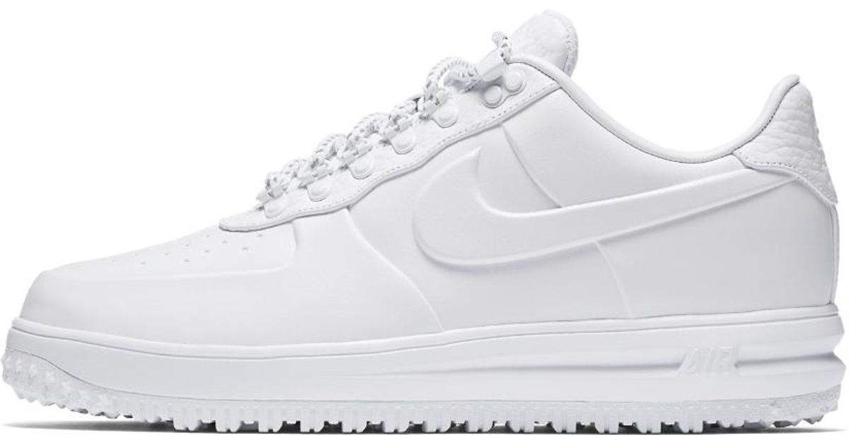 39846ad3ece Lyst - Nike Lunar Force 1 Low Duckboot Ibex Men s Shoe in White for Men