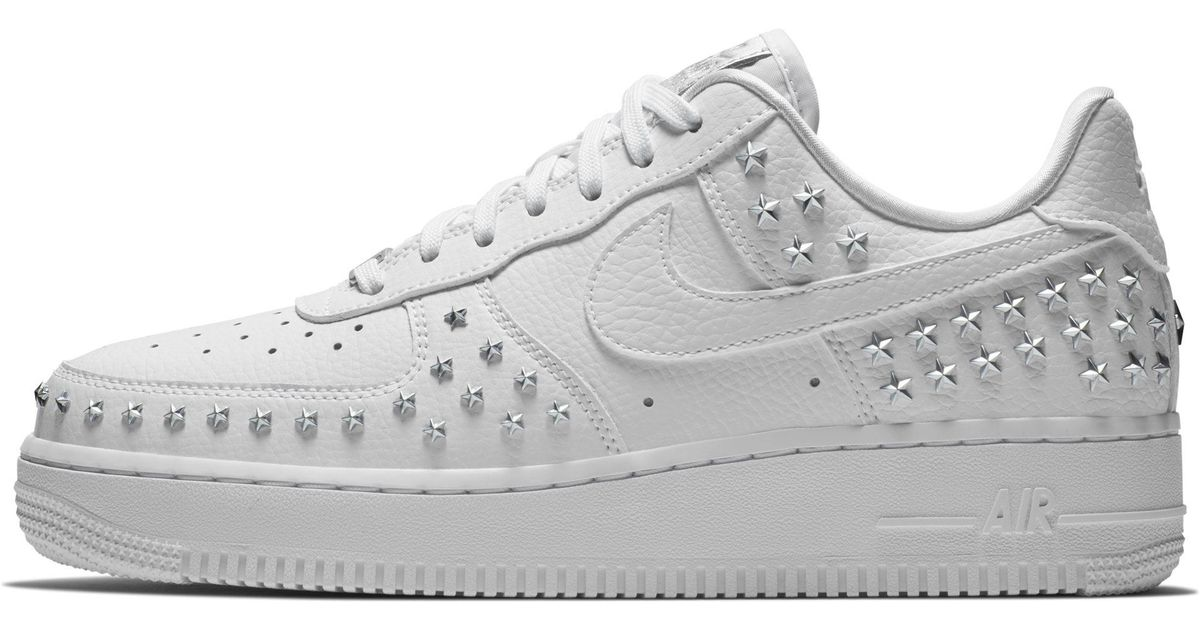 designer fashion d91bb 17a5f Nike Air Force 1  07 Xx Studded Shoe in White - Lyst