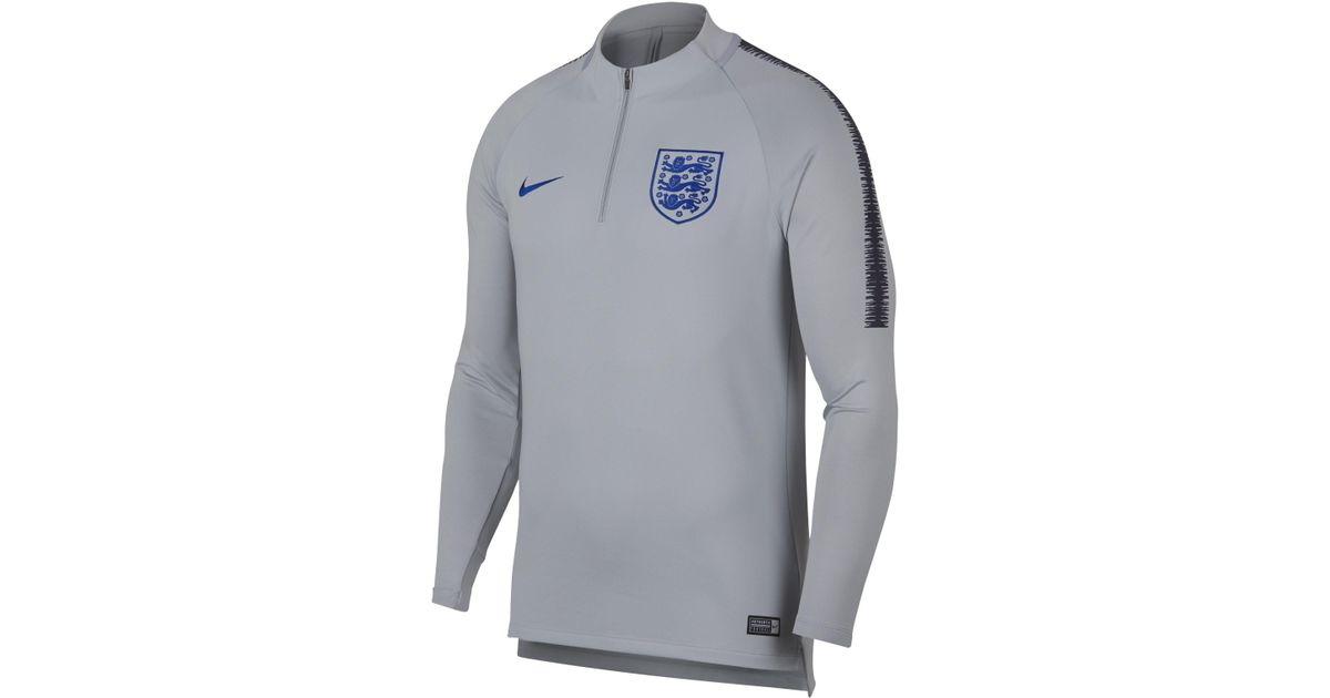 8a1e7b076 Nike England Dri-fit Squad Drill Long-sleeve Football Top in Gray for Men -  Save 15% - Lyst