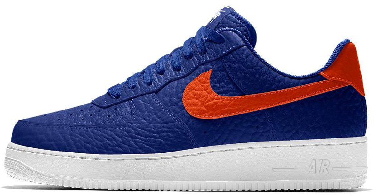 designer fashion 0875d f7612 Nike Air Force 1 Low Premium Id (new York Knicks) Men s Shoe in Blue for  Men - Lyst