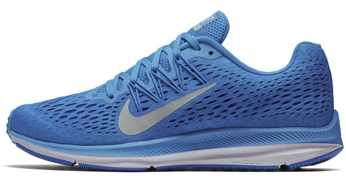 7483dfc6c205da Lyst - Nike Air Zoom Winflo 5 Women s Running Shoe in Blue