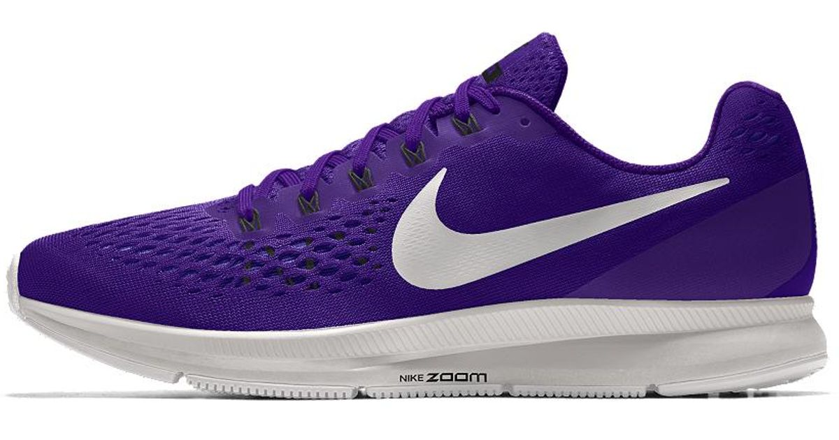 35f6bddbb59fd ... ireland lyst nike air zoom pegasus 34 id womens running shoe in purple  77cd2 c82c8