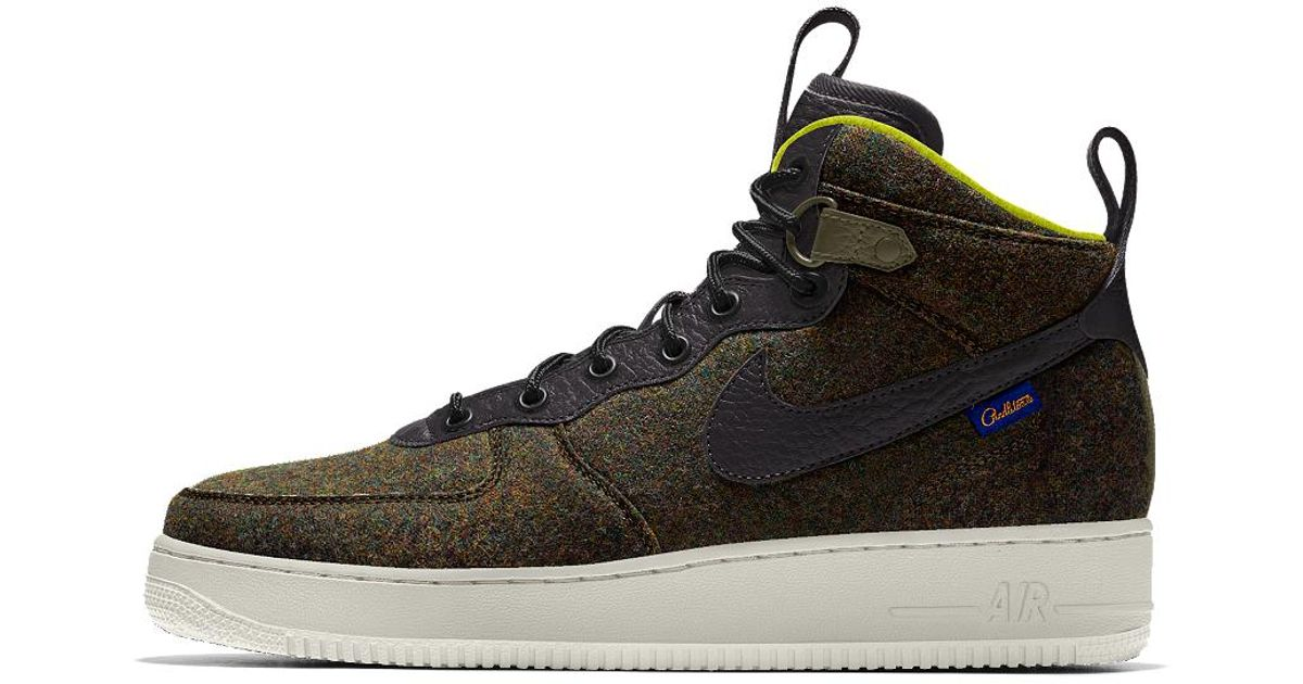 separation shoes a45c7 c55b8 ... cheap lyst nike air force 1 mid premium id mens shoe in black for men  0904d