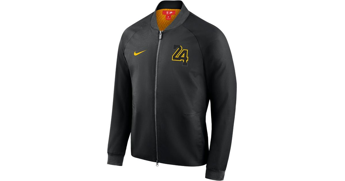 83d055e1c6a Nike Los Angeles Lakers City Edition Modern Men's Nba Varsity Jacket in  Black for Men - Lyst