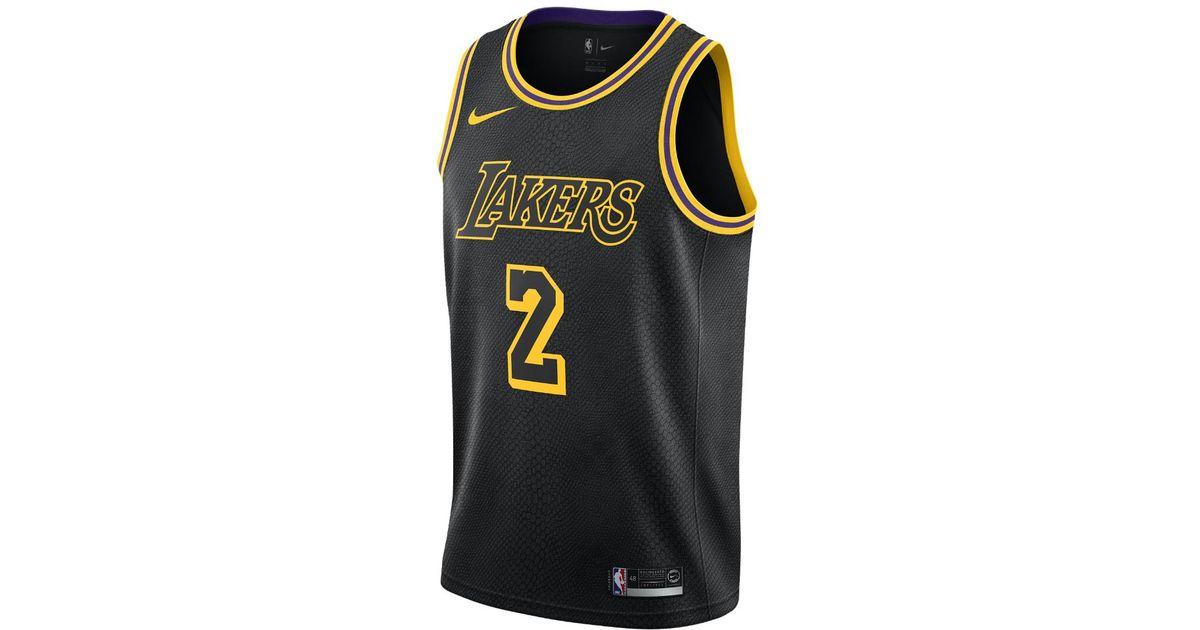 36d50e10810 Nike Lonzo Ball City Edition Swingman Jersey (los Angeles Lakers) Men s Nba  Jersey in Black for Men - Lyst