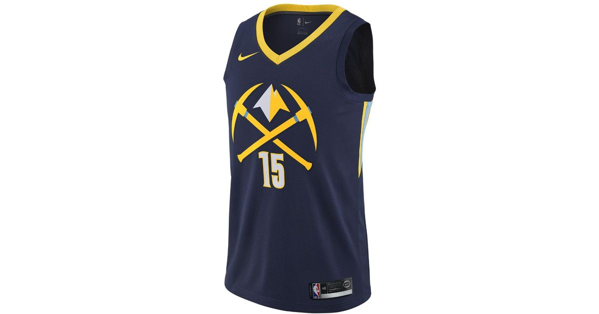 fea189df4a8 Lyst - Nike Nikola Joki City Edition Swingman Jersey (denver Nuggets) Men s  Nba Jersey in Blue for Men