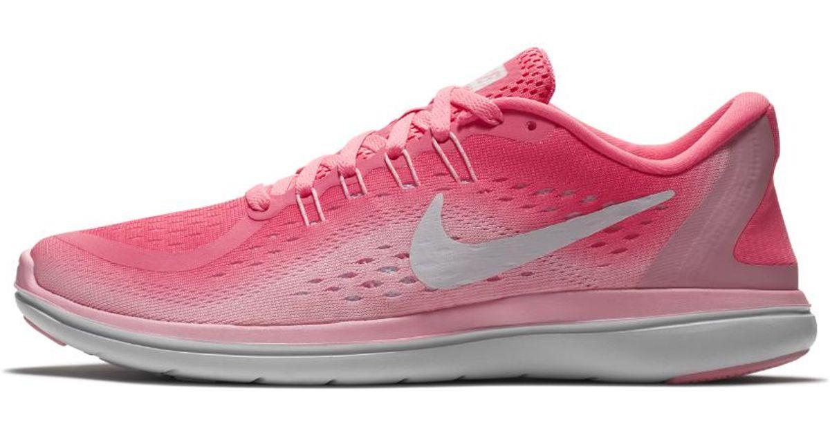 97d2d2fa0e50 Lyst - Nike Flex 2017 Rn Women s Running Shoe in Pink