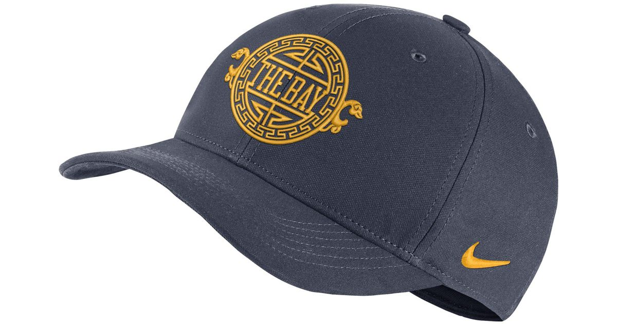 9a5eaee7a59c8 Nike Golden State Warriors City Edition Aerobill Classic99 Nba Hat in Blue  - Lyst