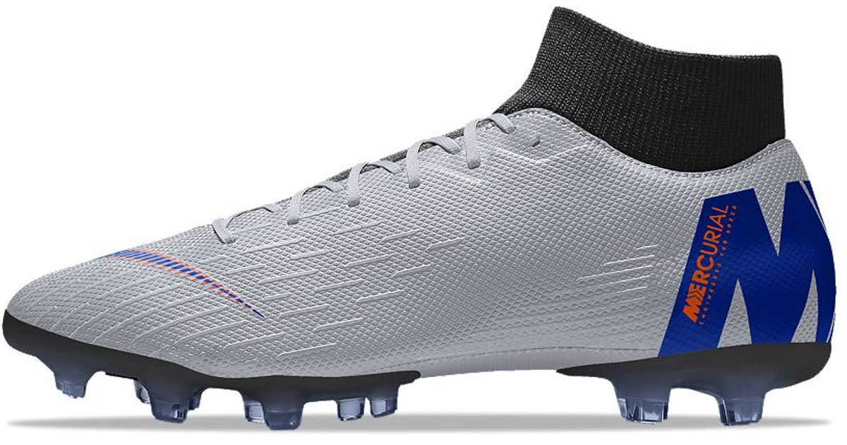 9beb031bc9a Nike Mercurial Superfly Vi Academy Mg Id Multi-ground Soccer Cleats in Gray  for Men - Lyst