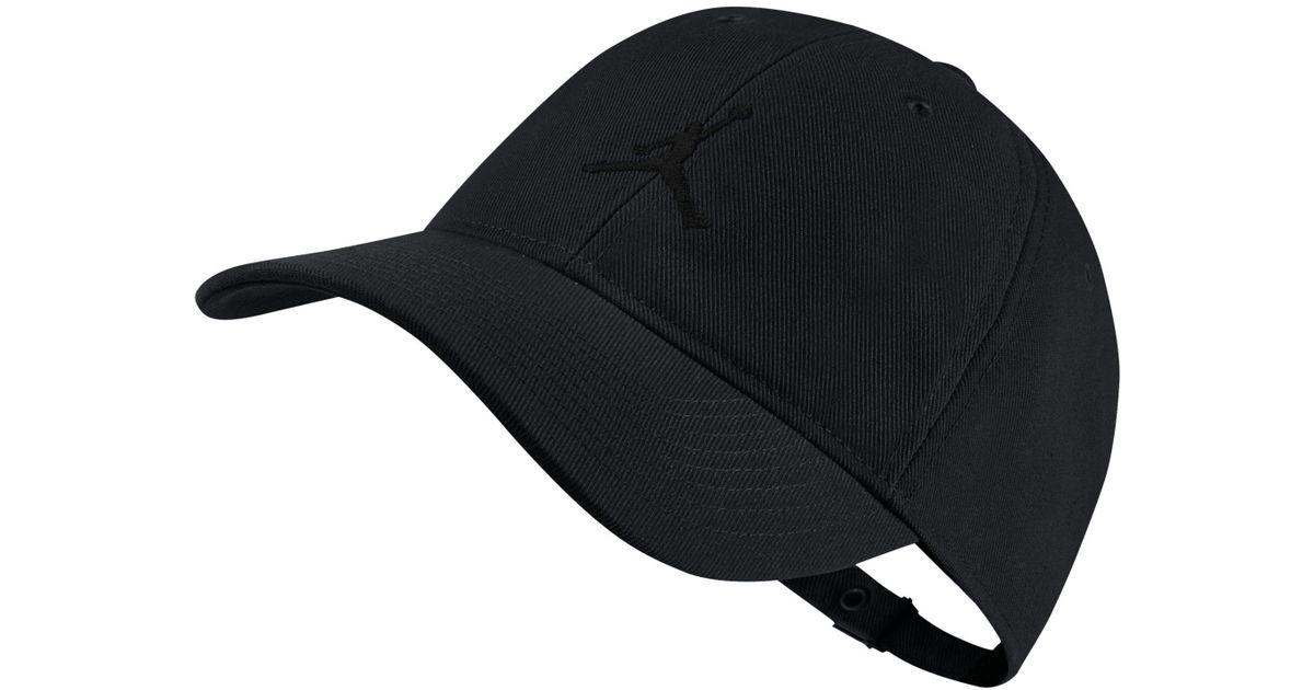 0b904b87cc808f Nike Jordan Jumpman H86 Adjustable Hat in Black for Men - Lyst