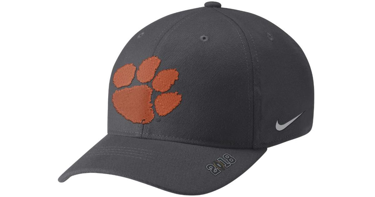 ec1c519e2e1 Lyst - Nike College Bound Classic 99 (clemson) Fitted Hat (black) in Black  for Men
