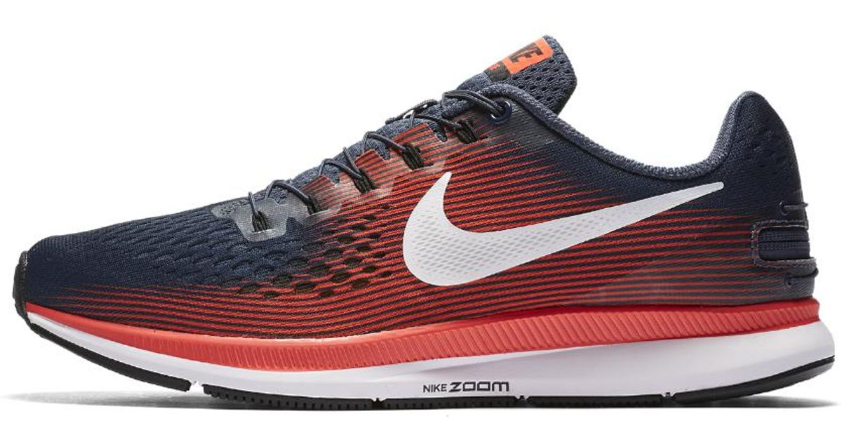 8ae27eb314c7b ... official store lyst nike air zoom pegasus 34 flyease mens running shoe  in blue for men ...