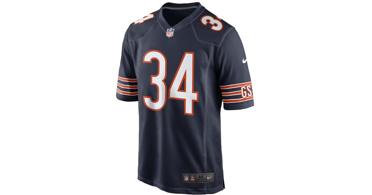 872ade1f629 Lyst - Nike Nfl Chicago Bears (walter Payton) Men's Football Home Game  Jersey in Blue for Men