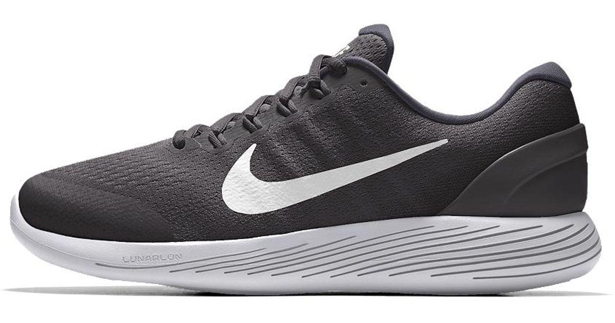 4b43cc24c09 Lyst - Nike Lunarglide 9 Id Men s Running Shoe in Black for Men