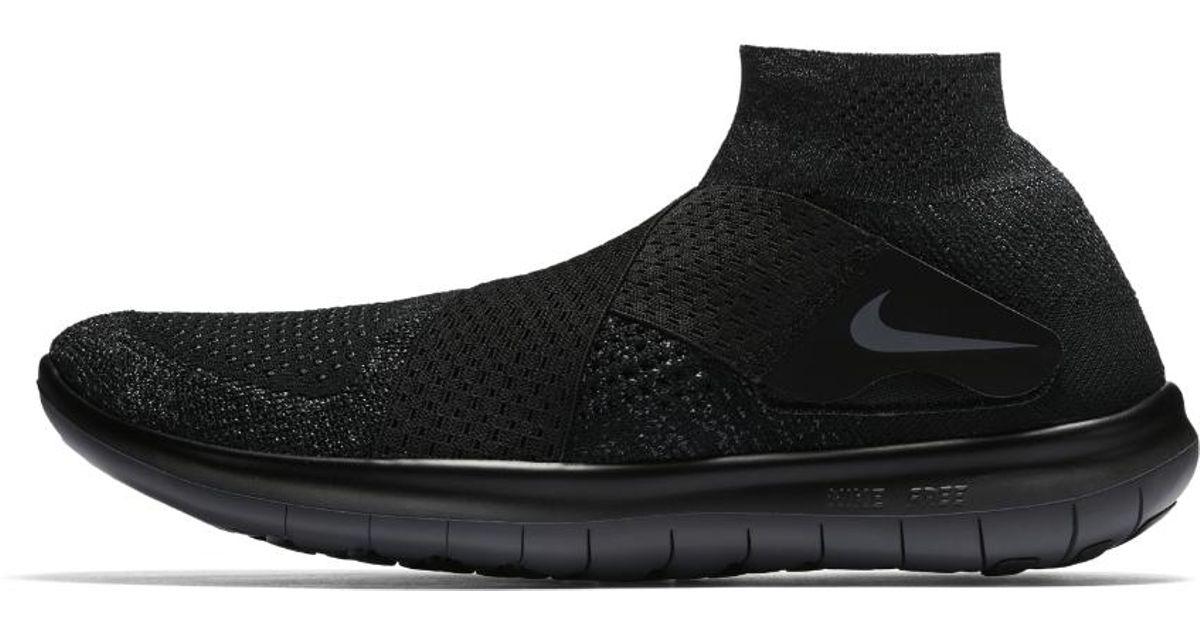 05b2254e26d00 ... best price lyst nike free rn motion flyknit 2017 mens running shoe in  black for men