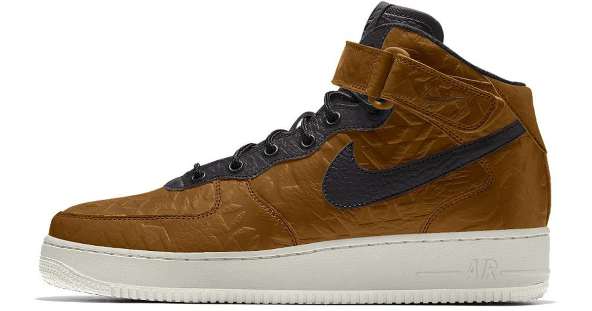 finest selection b31c5 09273 Lyst - Nike Air Force 1 Mid Premium Id Men s Shoe in Brown for Men