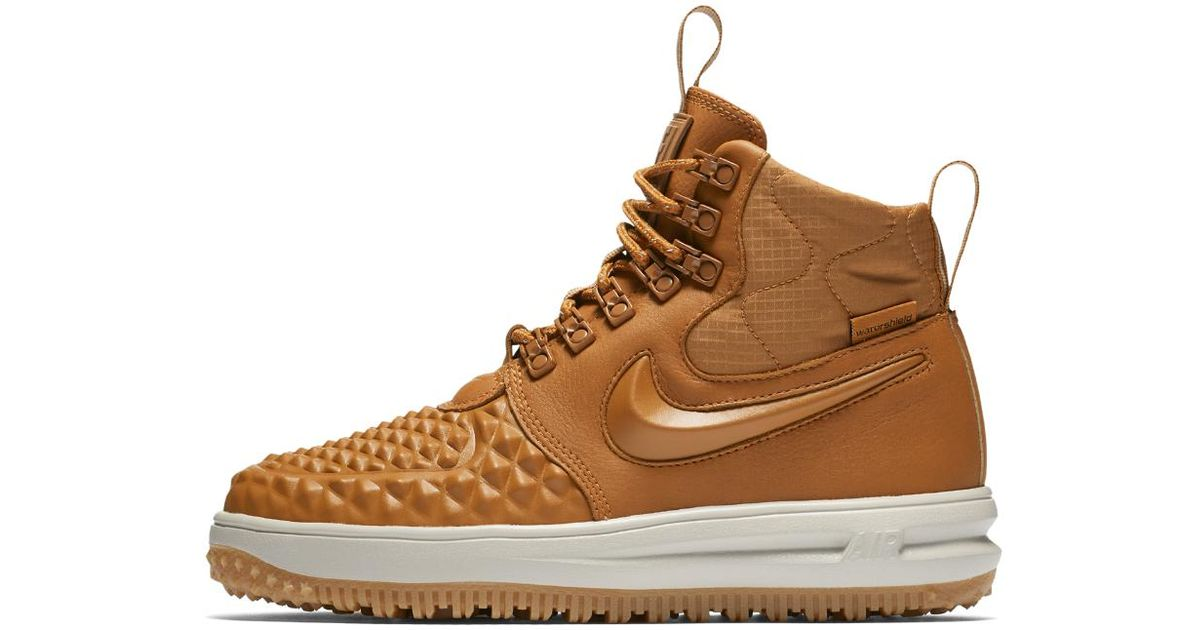 f20676906b8c Lyst - Nike Lunar Force 1 Duckboot Women s Shoe in Brown for Men